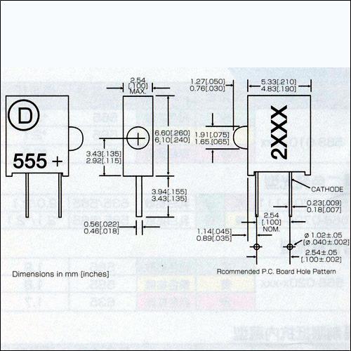 ダイアライト社LED−555-2xxxシリーズ