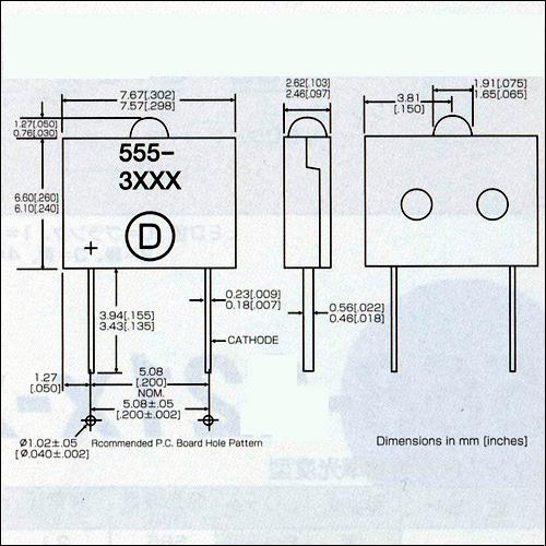ダイアライト社LED−555-3xxxシリーズ