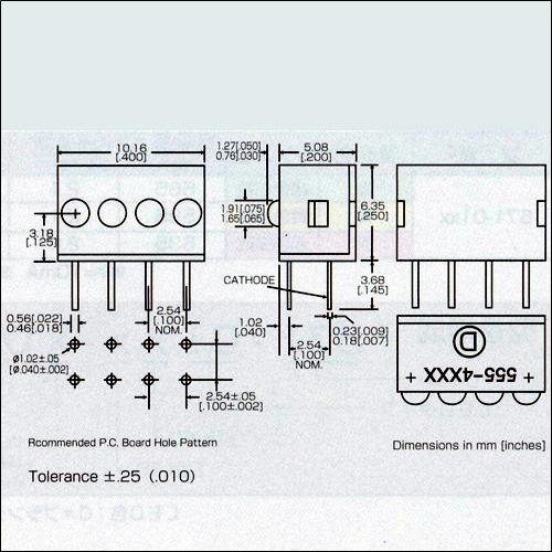 ダイアライト社LED−555-4xxxシリーズ