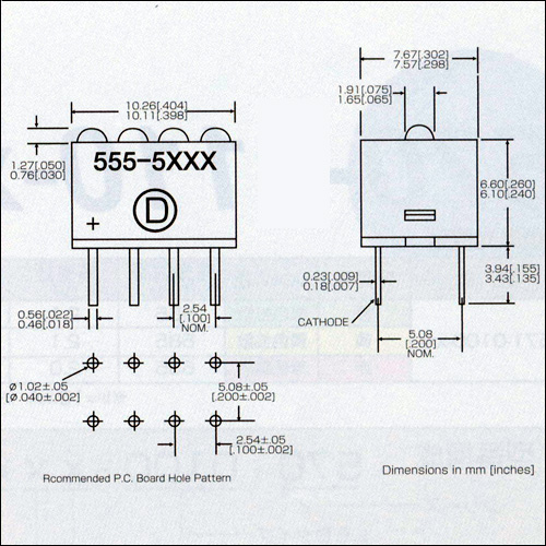 ダイアライト社LED−555-5xxxシリーズ